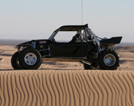 X-18 in Glamis Dunes - Sand - Shown with Optional Paddle Tires